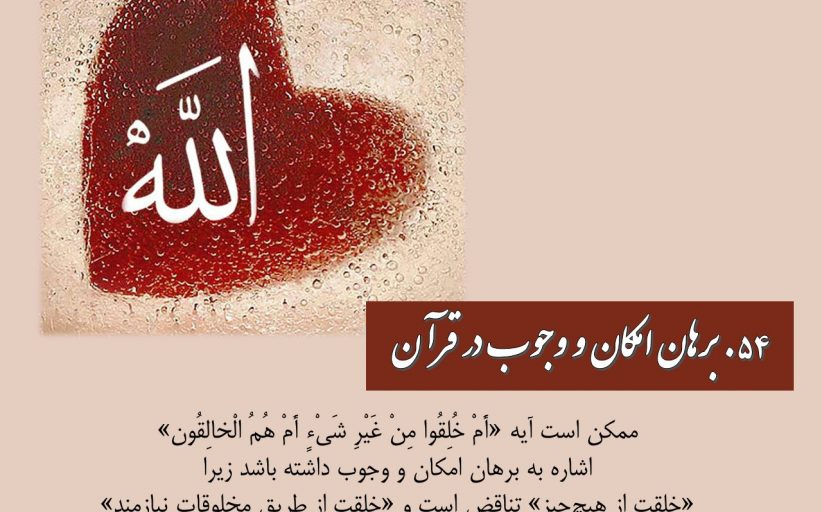 مقاله 54: برهان امکان و وجوب در قرآن